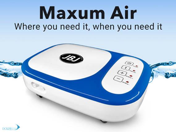 پمپ هوای باطری دار آکواریوم از سری محصولات MAXUM به زودی با برند JBJ به بازار عرضه خواهد شد