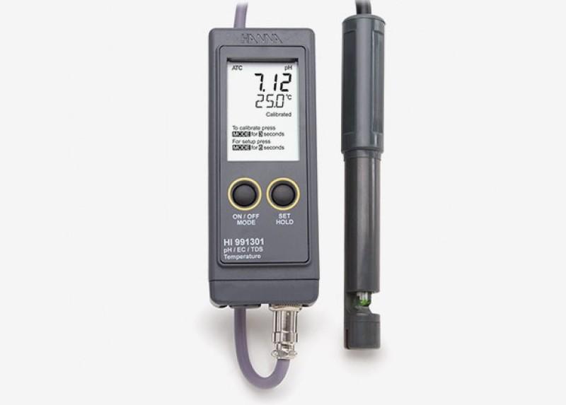 تستر قابل حمل pH/EC/TDS و دما