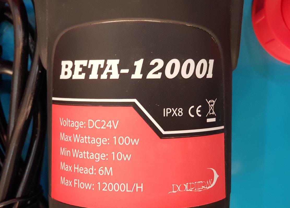 پمپ آب beta-12000 DC